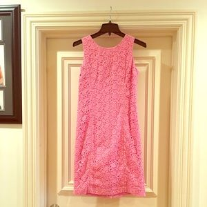 Pink Talbots Lace Dress.